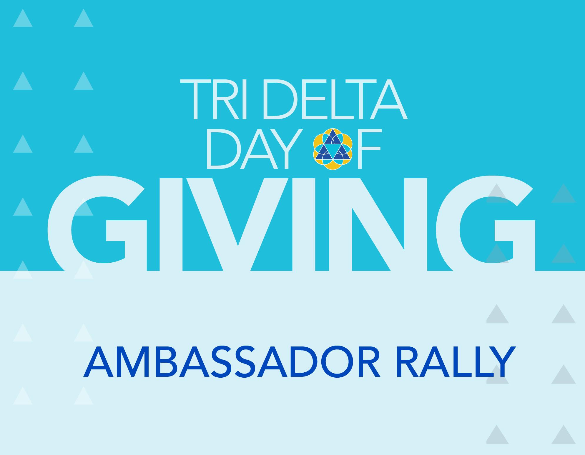 Day of Giving 2021 Ambassador Rally