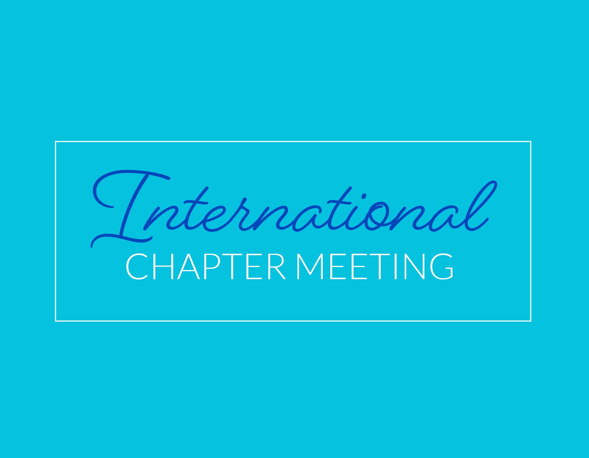 International Chapter Meeting