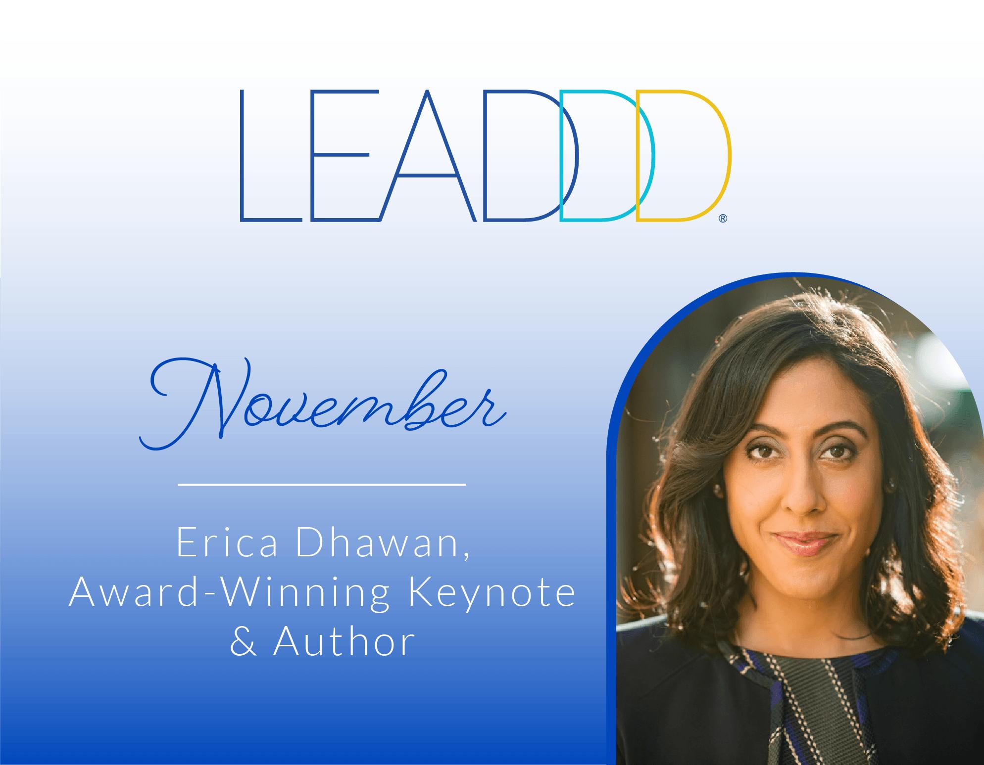 LEADDD Keynote Series: November